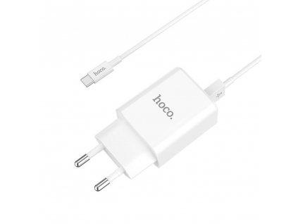 HOCO C62A nabíječka s výstupem 2x USB / 2,1A + kabel USB-C bílá