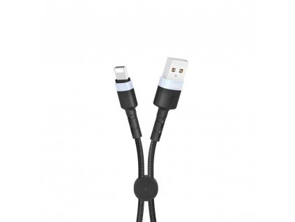 XO NB117 USB kabel - iPhone lightning 0,25m / 2,1A černý