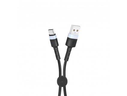 XO NB117 USB kabel - USB-C 0,25m / 2,1A černý
