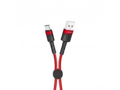 XO NB117 USB kabel - USB-C 0,25m / 2,1A červený