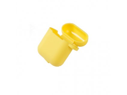 XO silikonové pouzdro pro Apple AirPods 1/2 žluté s poutkem