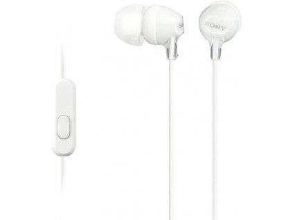 Sony MDR-EX15AP stereo headset sluchátka bílé