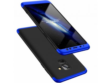 Pouzdro GKK 360 pro Samsung A530 Galaxy A8 2018 černá / modrá