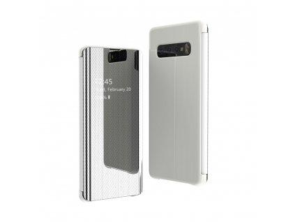 Pouzdro Flip View pro Samsung Galaxy A70 stříbrné