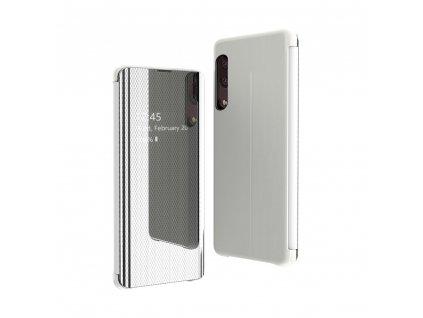 Pouzdro Flip View pro Samsung Galaxy A50 stříbrné