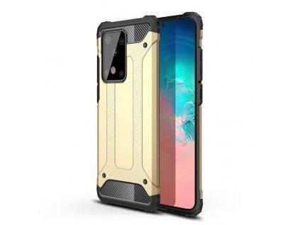 Hybrid Armor Case odolné pouzdro pro Samsung G985 Galaxy S20 Plus zlaté