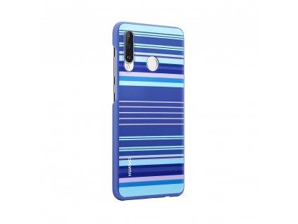 Pouzdro / kryt Huawei 51993075 pro Huawei P30 Lite Lines Blue