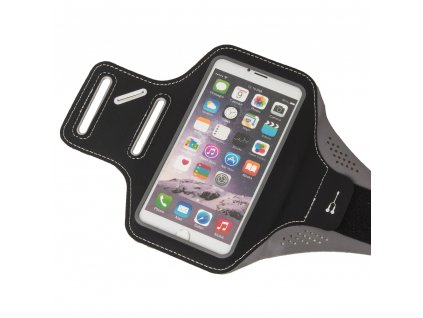 """Armband univerzální bicepsové pouzdro na běhání pro telefony do 5,5"""" - černé"""