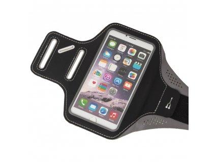 """Armband univerzální bicepsové pouzdro na běhánípro telefony do 5,5"""" - černé"""