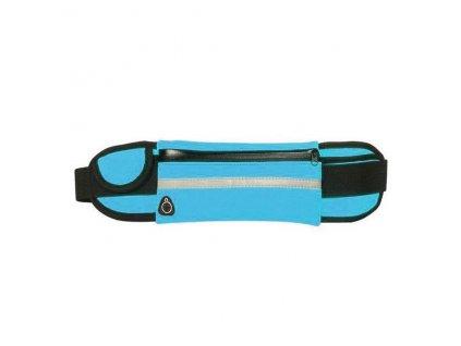 Sportovní pouzdro - ledvinka na běhání s držákem na láhev modrá
