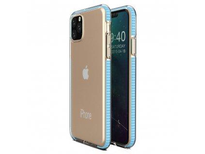 Spring Case TPU pouzdro pro Apple iPhone 11 PRO clear / light blue