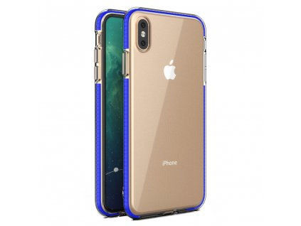 Spring Case TPU pouzdro pro Apple iPhone Xs MAX clear / blue