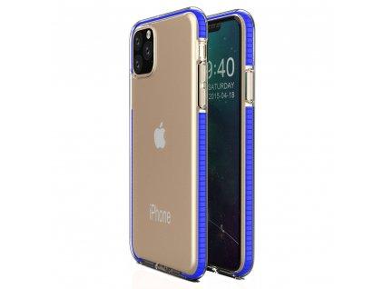 Spring Case TPU pouzdro pro Apple iPhone 11 PRO clear / blue