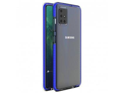 Spring Case TPU pouzdro pro Samsung Galaxy A51 clear / blue