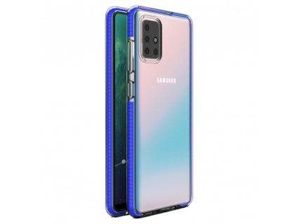 Spring Case TPU pouzdro pro Samsung Galaxy A71 clear / blue