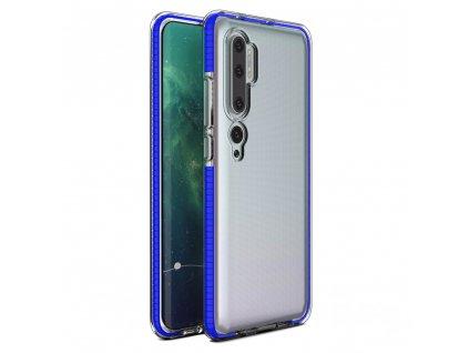 Spring Case TPU pouzdro pro Xiaomi Mi NOTE 10 / Mi NOTE 10 PRO clear / blue