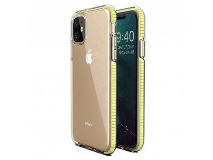 Spring Case TPU pouzdro pro Apple iPhone 11 clear / yellow