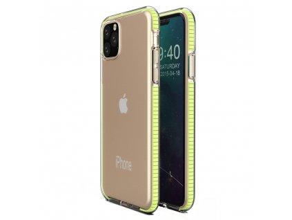 Spring Case TPU pouzdro pro Apple iPhone 11 PRO clear / yellow