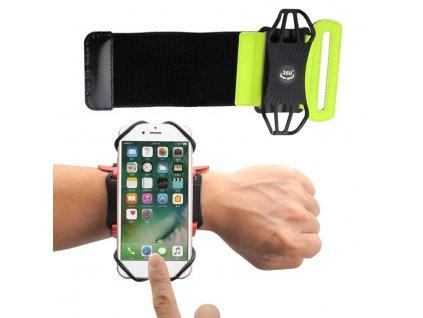 """Armband univerzální pouzdro na běhání zápěstí / paže pro telefony do 6"""" - zelené"""