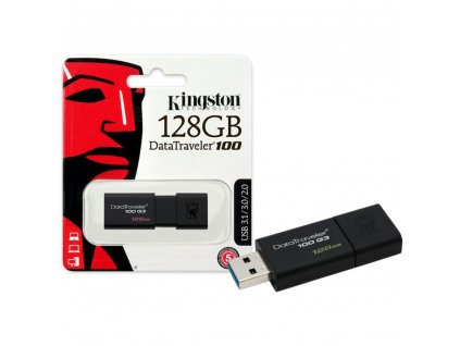 Kingston DT100G3 USB Flash disk 128GB černý