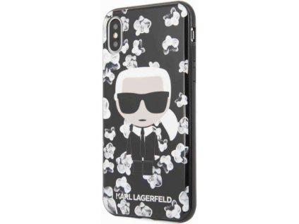 Karl Lagerfeld kryt pro iPhone X / iPhone Xs černý, KLHCPXFLFBBK