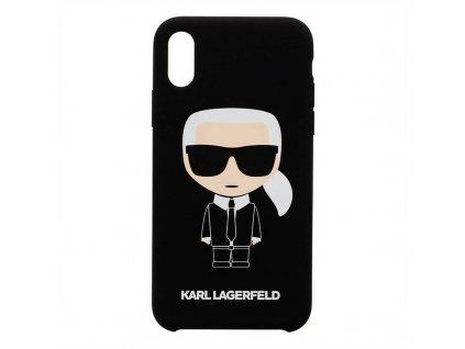 Karl Lagerfeld kryt pro iPhone X / iPhone Xs černý, KLHCPXLFKBK