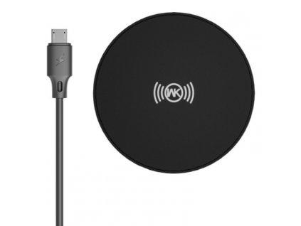 WK Design WP-U89 bezdrátová 10W QI nabíječka + kabel černá