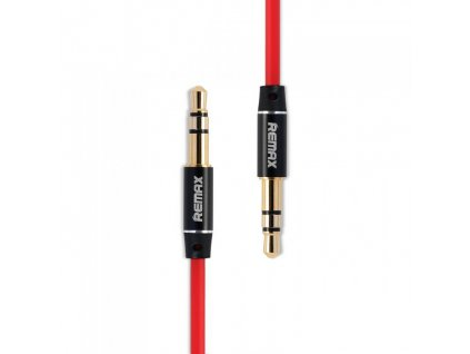 Remax Aux kabel - 3,5mm jack / 3,5mm jack / 1m červený