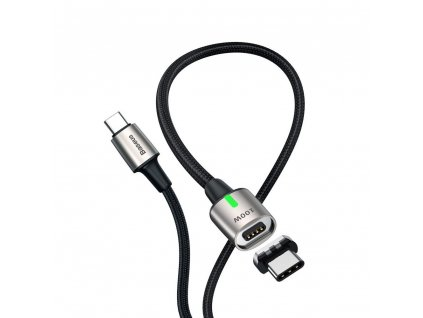 Baseus Zinc magnetický USB-C PD kabel - USB-C 1,2m / 100W / 5A / 20V černý CATXC-K01