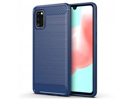 Pouzdro Carbon Case pro Samsung Galaxy A41 modré