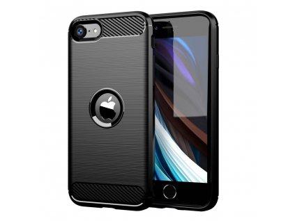 Pouzdro Carbon Case pro iPhone SE 2020 černé