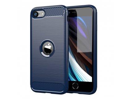 Pouzdro Carbon Case pro iPhone SE 2020 modré