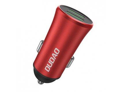 Dudao R6S USB nabíječka do auta 2x USB / 2,1A + 1A červená