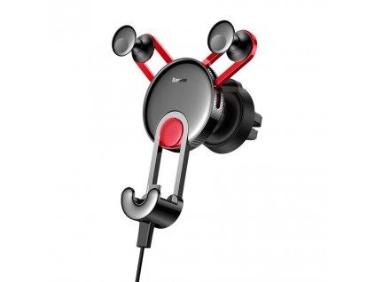 BASEUS YY Gravity držák do mřížky ventilátoru + kabel iPhone lightning - červený SULYY-09