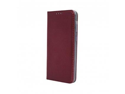 Pouzdro Smart Magnetic pro Huawei P40 Lite E burgundy