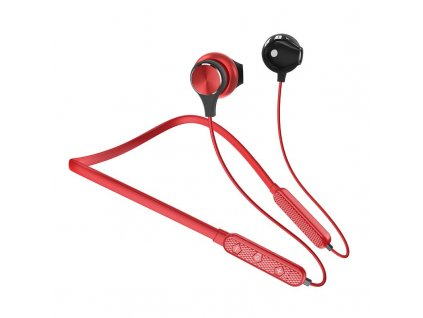 Dudao U5 Plus sportovní bezdrátové bluetooth sluchátka s micro SD červené