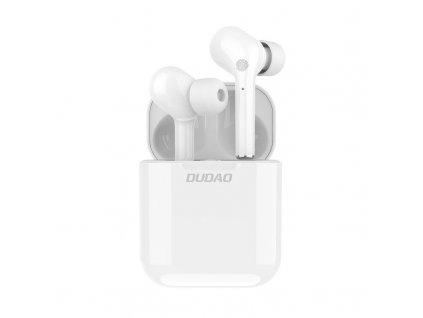 Dudao U12Pro TWS bezdrátové bluetooth sluchátka bílé