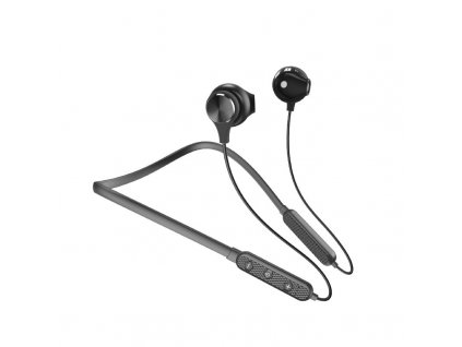 Dudao U5 Plus sportovní bezdrátové bluetooth sluchátka s micro SD černé