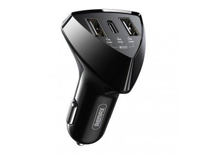 REMAX nabíječka do auta 2 x USB + USB-C PD 35W / 3,1A černá