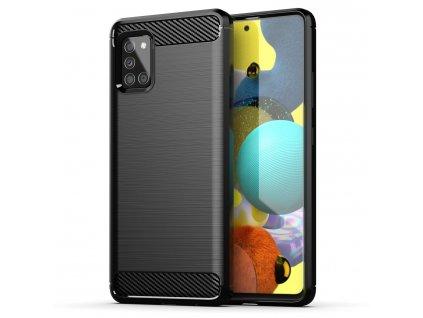 Pouzdro Carbon Case pro Samsung Galaxy A51 5G černé