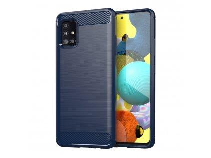 Pouzdro Carbon Case pro Samsung Galaxy A51 5G modré