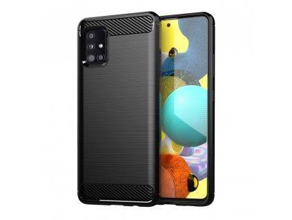 Pouzdro Carbon Case pro Samsung Galaxy A71 5G černé