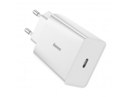 Baseus nabíječka CCFS-X02 USB-C PD 3A / 18W / QC 3.0 bílá