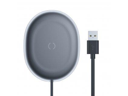 Baseus Jelly bezdrátová nabíječka Qi / 15W + kabel USB - USB-C černá