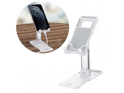 Remax RL-CH15 stolní držák na tablet / mobilní telefon bílý