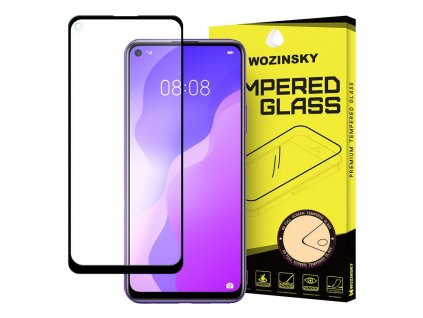 Wozinsky Full Glue tvrzené sklo Huawei P40 Lite 5G  / Nova 7SE černé 9111201905924