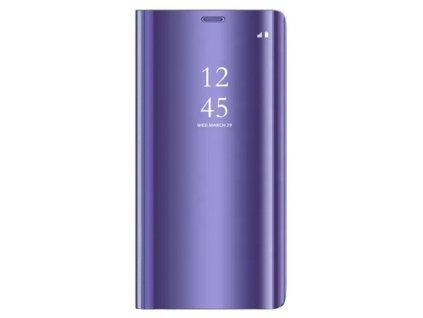 Pouzdro Clear View pro Huawei P40 Lite E / Y7p fialové