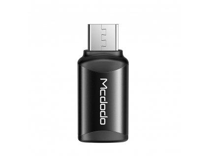 MCDODO adaptér USB-C na Micro USB černý