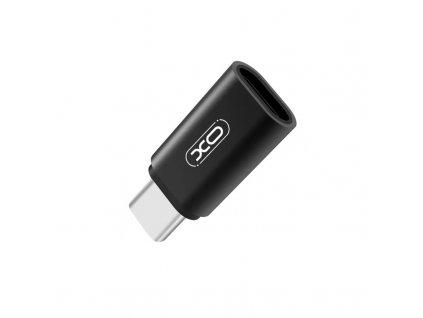 XO NB131 adaptér Micro USB na USB-C stříbrný