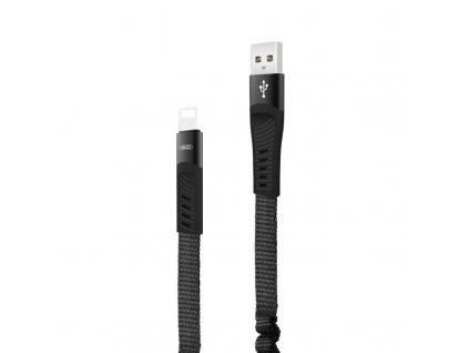 XO NB127 USB kabel - iPhone Lightning 1,2m / 2,1A - černý